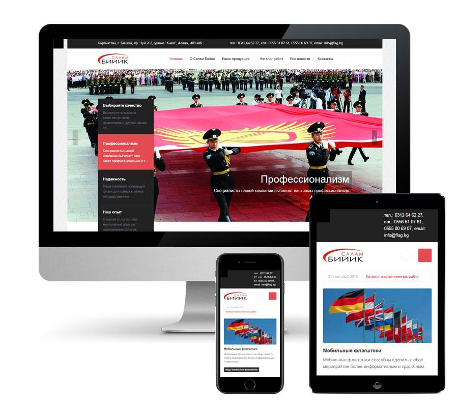 Модернизация сайта для ОсОО «Салам Бийик»