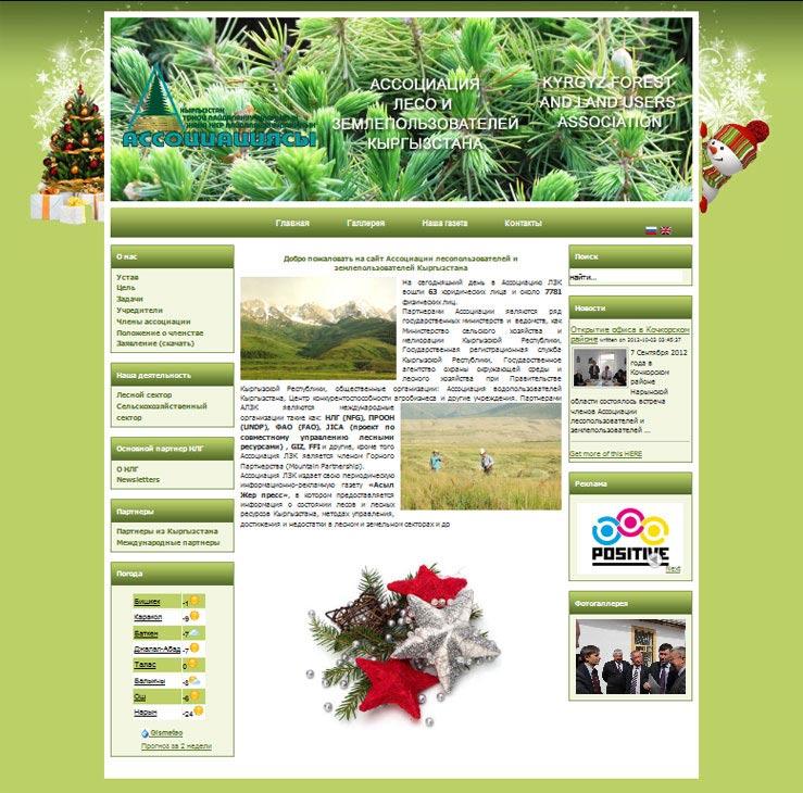 Создание сайта для Ассоциации лесопользователей и землепользователей Кыргызстана