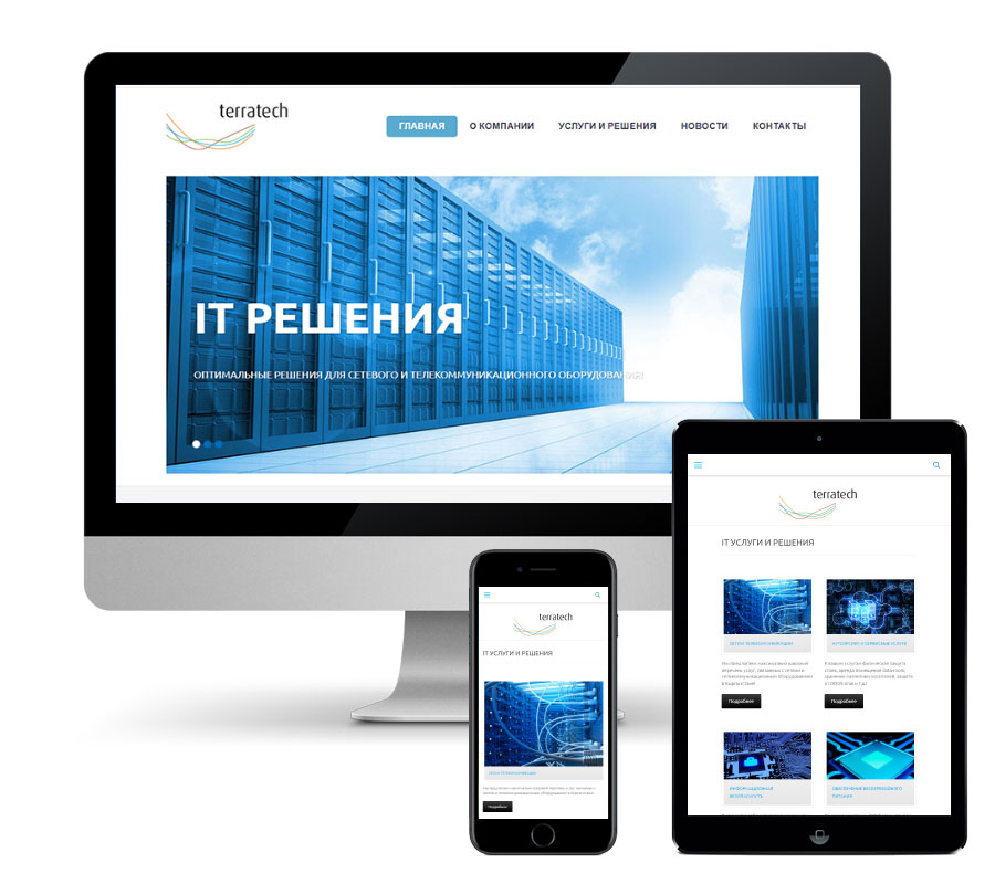 Website development Terratech.kg